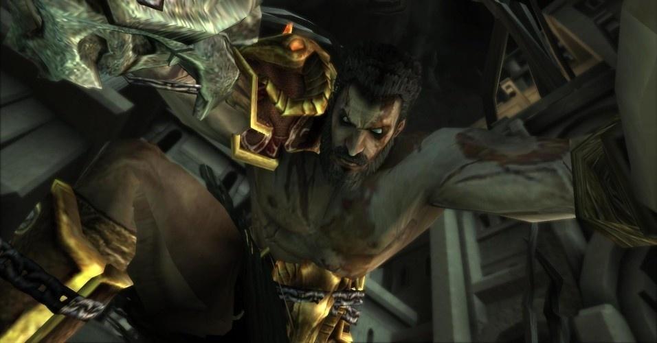 O fantasma de Esparta acaba encontrando seu irmão, mas Deimos não o perdoa por não ter sido socorrido antes. Durante todo esse tempo, foi torturado por Tânato, o deus da morte. Os irmãos lutam brutalmente