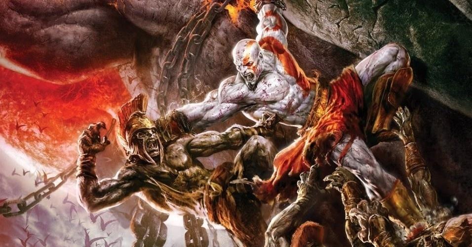 """O Kratos de """"God of War"""" é baseado no Cratos da mitologia grega, filho de Estige e Palas, que personifica a força e o poder. Tem como irmãos Zelo (que representa o entusiasmo), Niké (vitória) e Bia (violência)"""