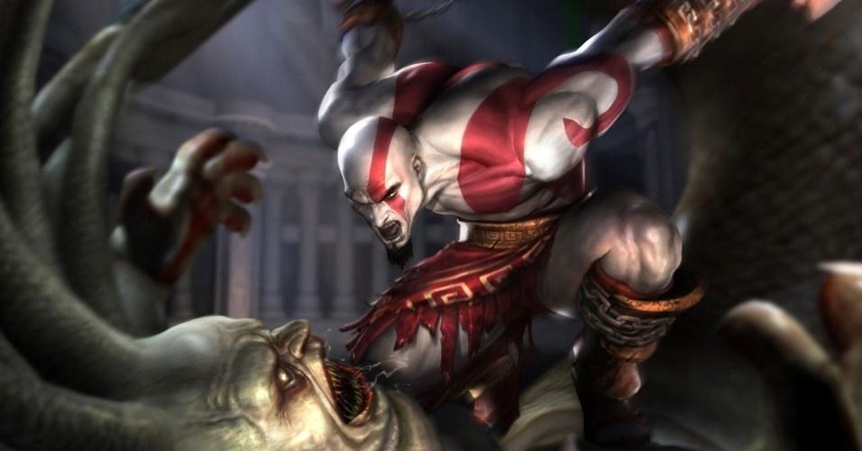Outra vítima de Kratos é a górgona Euríale, irmã de Medusa