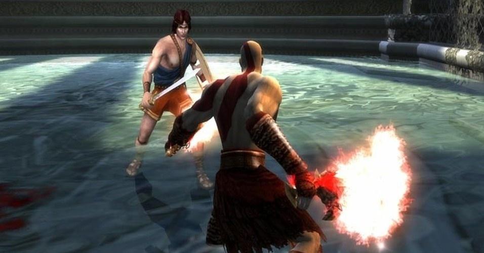 Tanto Kratos como Perseu estão atrás das Irmãs do Destino. Ele consegue ficar invisível, mas o espartano vence o combate