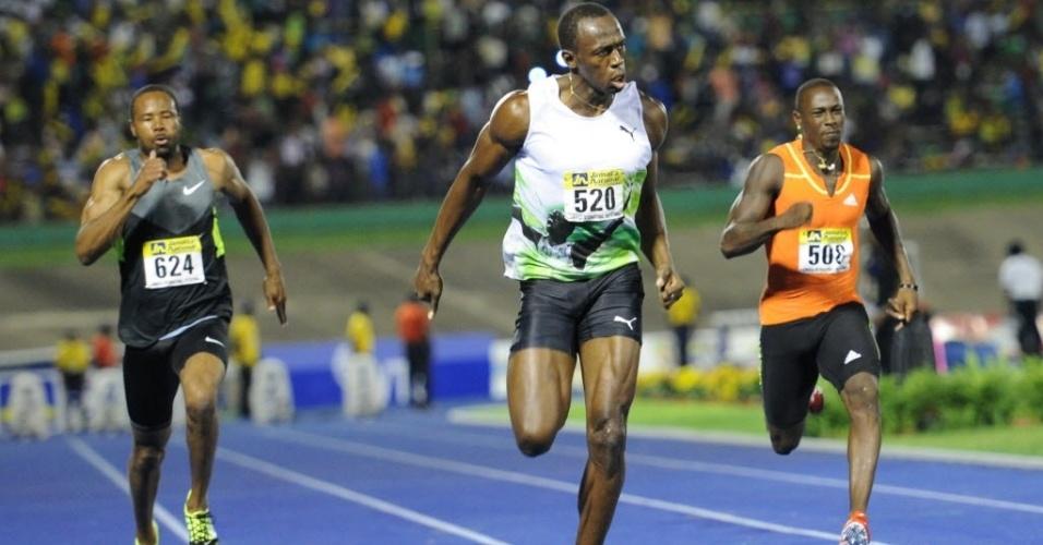 Bolt corre prova dos 100 m rasos na Jamaica