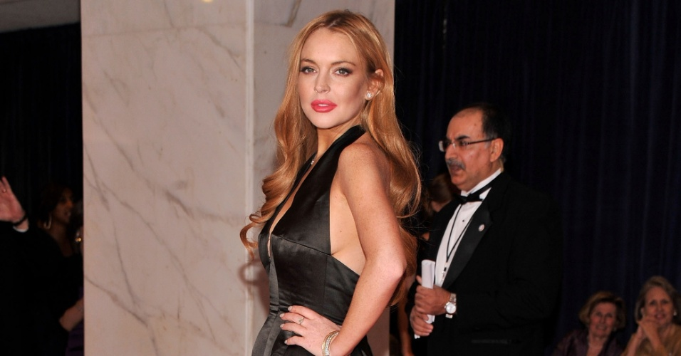 Lindsay Lohan comparece ao evento White House Correspondents' Association em Washington, EUA (28/4/12)