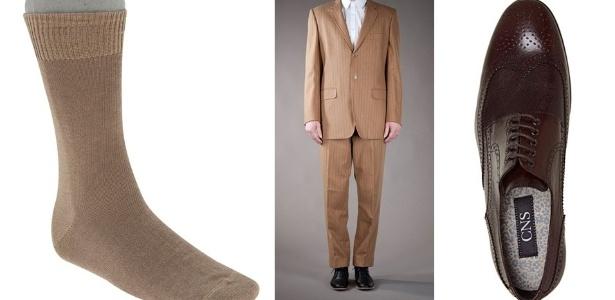 As combinações clássicas pedem que as meias sejam usadas na mesma cor da calça ou do sapato - Divulgação