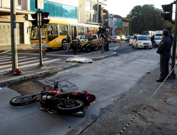 """Batida fatal com motocicleta na rua da Consolação, no Centro de São Paulo: vivemos """"epidemia de acidentes"""" de trânsito, afirma Alexandre Padilha, ministro da Saúde  - Paduardo/Futura Press"""