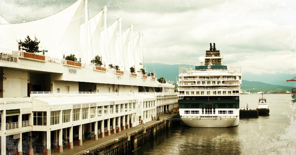 Porto de Vancouver, cidade a oeste do Canadá