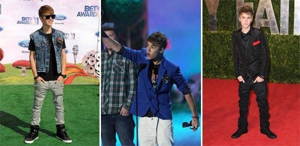Justin Bieber não abre mão das calças jeans ou de sarja e dos tênis grandes - Getty Images