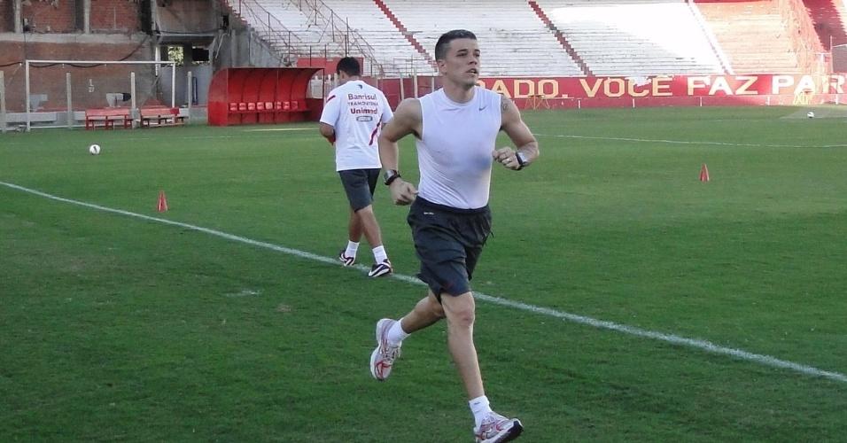 Meia D'Alessandro voltou a correr depois de uma lesão que o deixou fora dos últimos jogos do Inter (07/05/2012)