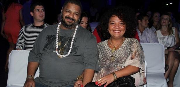 Arlindo Cruz e sua mulher Babi