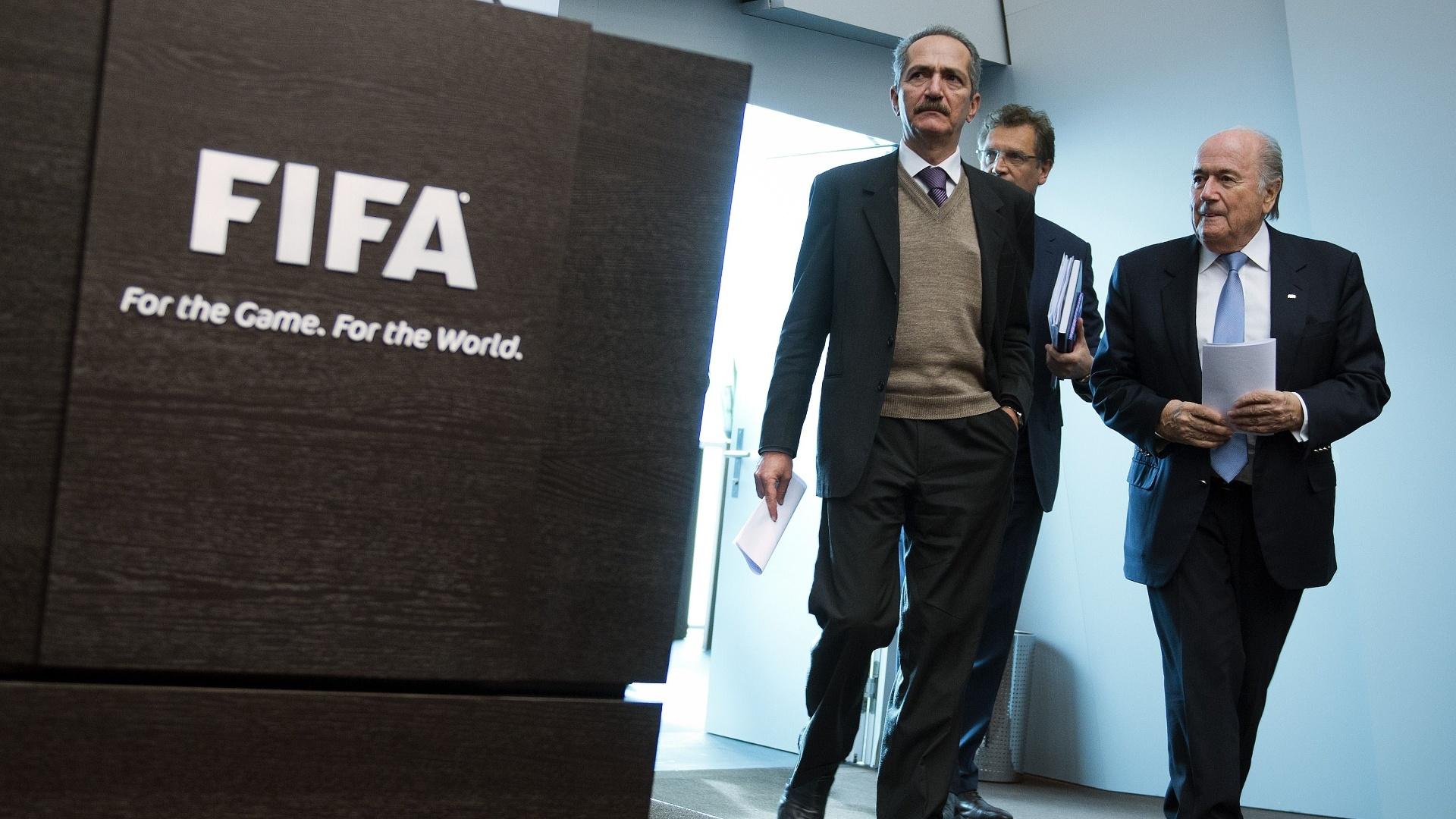 Comitiva brasileira se reuniu com o presidente da Fifa Joseph Blatter e com o secretário-geral Jérôme Valcke