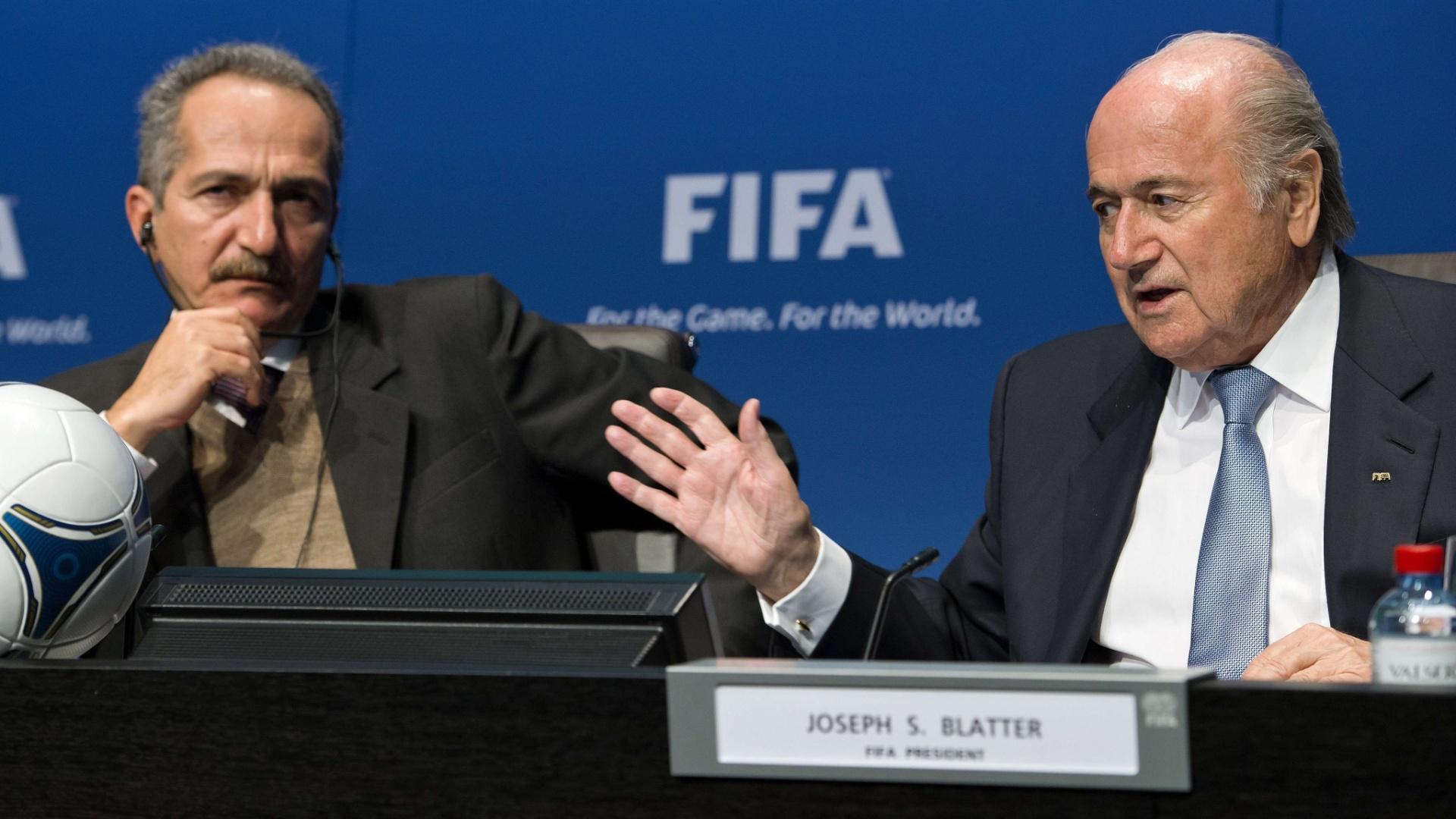 Em reunião realizada nesta terça-feira, Joseph Blatter reforçou a presença de Jérôme Valcke como interlocutor para a Copa-2014