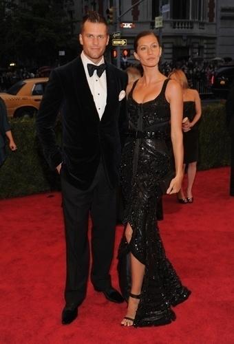 Gisele Bündchen e Tom Brady no baile de gala do MET 2012 (07/05/20120