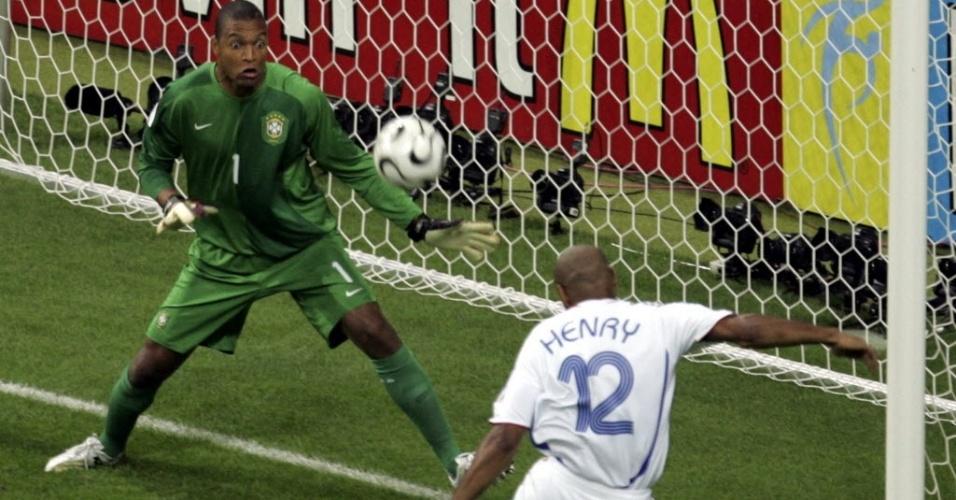 Dida foi o goleiro titular do Brasil na Copa do Mundo de 2006