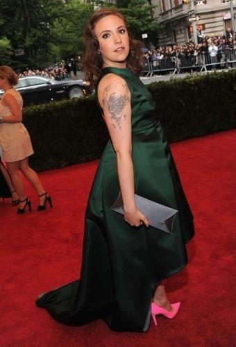 Lena Dunham no baile de gala do MET 2012 (07/05/20120