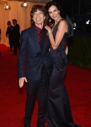 "Mick Jagger e L""Wren Scott no baile de gala do MET 2012 (07/05/20120 - Getty Images"