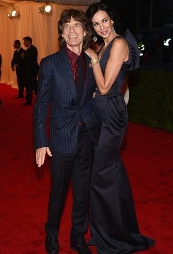 Mick Jagger e L'Wren Scott no baile de gala do MET 2012 (07/05/20120