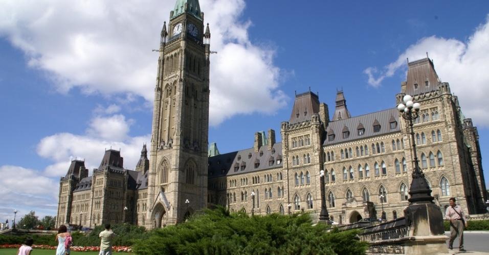 Prédio do Parlamento, em Ottawa, Ontario