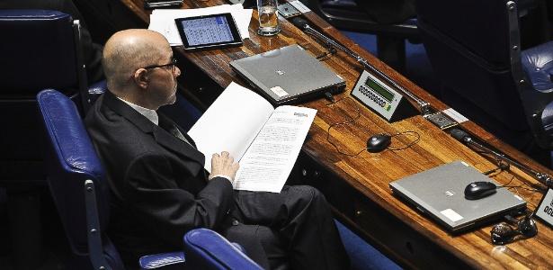 O senador Demóstenes Torres participou da sessão plenária do Senado para votação da Lei Geral da Copa