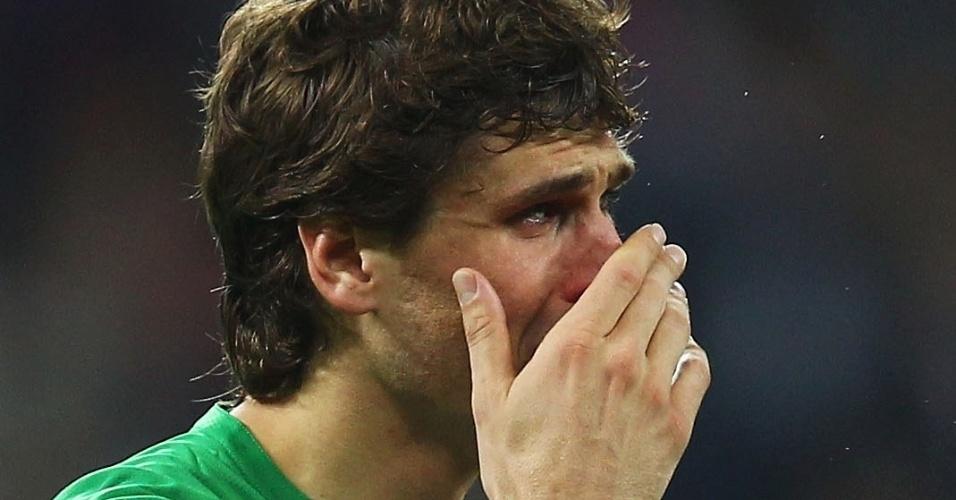 O atacante Fernando Llorente chora após a derrota do Athletic Bilbao na final da Liga Europa