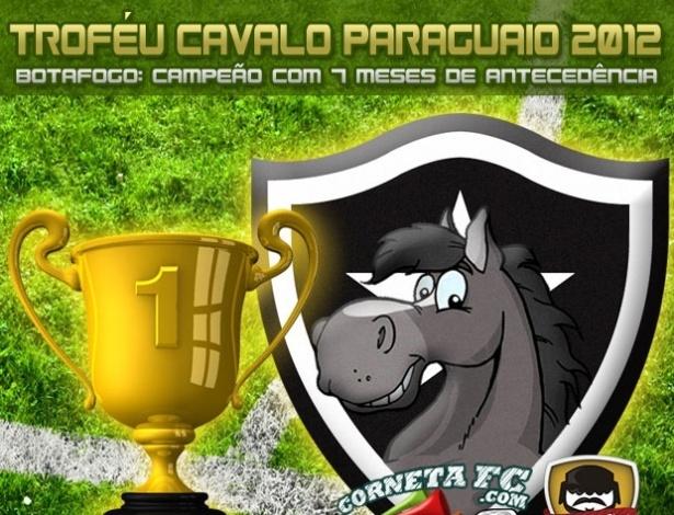 Corneta FC: Com 7 meses de antecedência, Botafogo leva Troféu Cavalo Paraguaio 2012