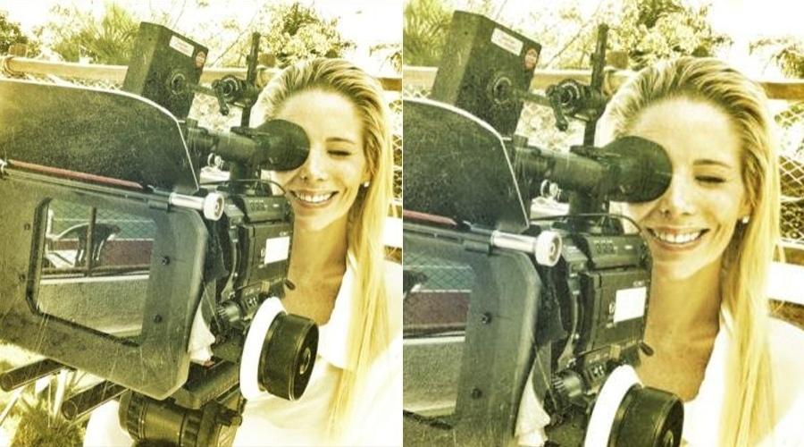 Danielle Winits grava comercial em Goiás (10/5/12)