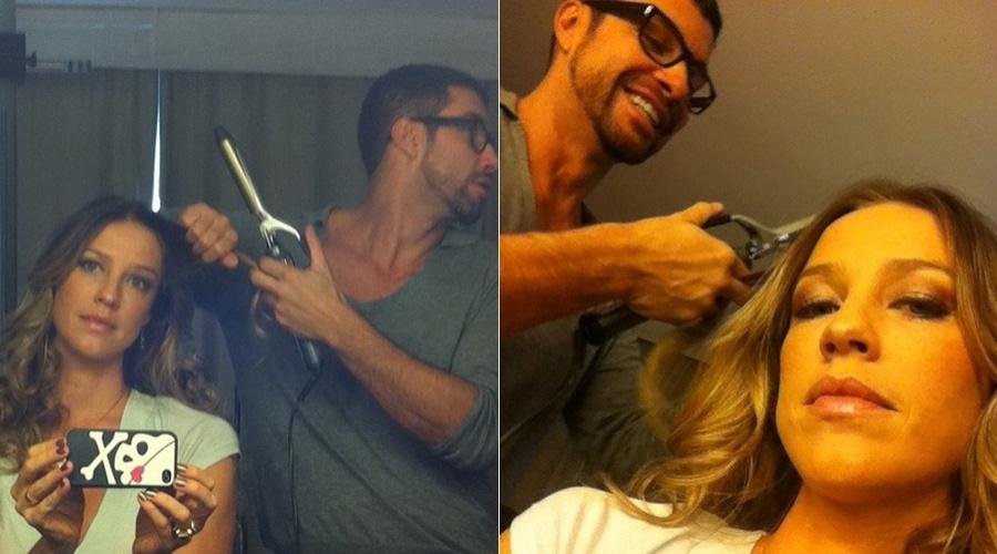 Luana Piovani mostra foto fazendo o cabelo (10/5/12)