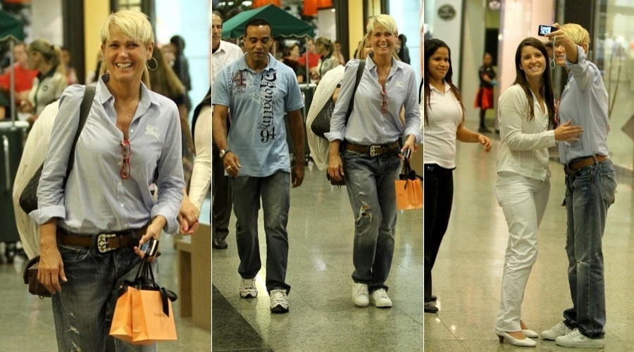 Xuxa passeia em shopping da Barra da Tijuca, zona oeste do Rio (10/5/12)