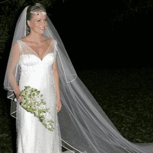 Angélica em seu casamento com Luciano Huck - Folha Imagem