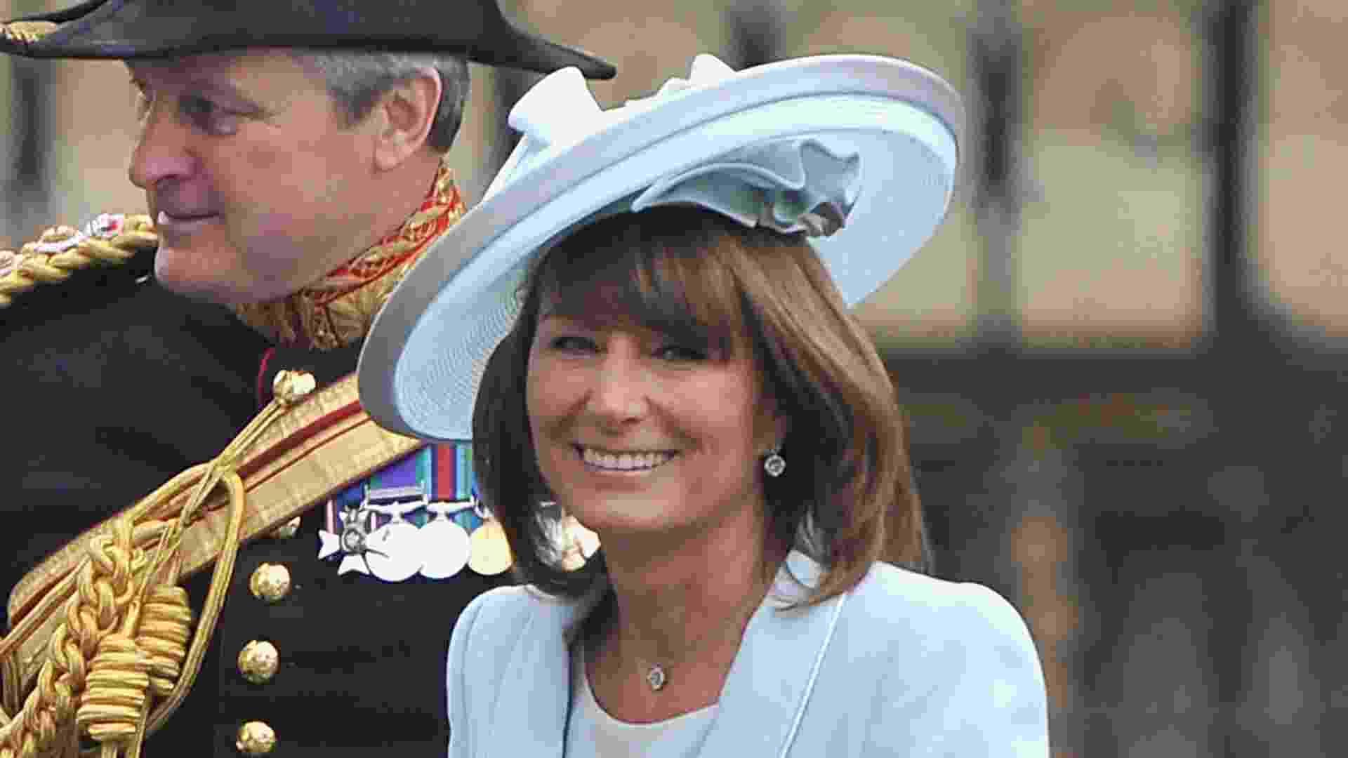 Carole Middleton, no casamento de Kate Middleton - Getty Images