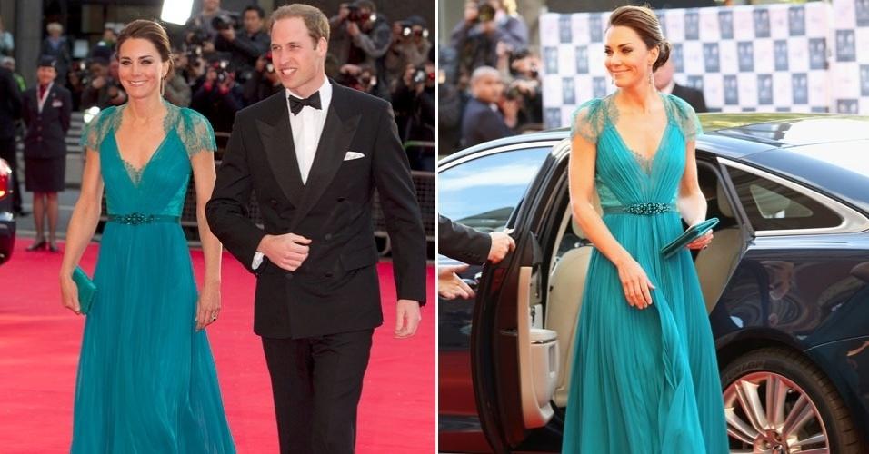 O príncipe William e sua mulher, Kate Middleton, vão a evento pré-olímpico em Londres, Inglaterra  (11/2/12)