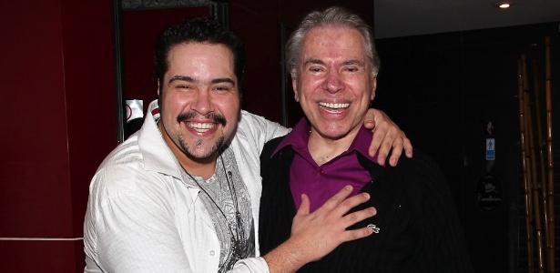 Silvio Santos e o neto Tiago Abravanel, em maio de 2012