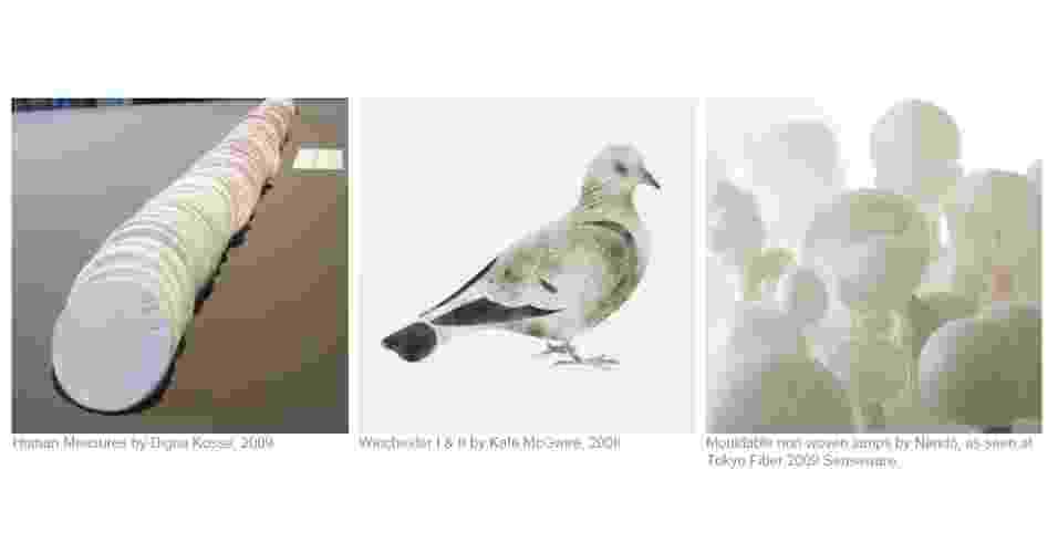 """As cores neutras e cinzas, inspiradas nos pombos, no gesso e nas telas que servem de suporte para pintura, foram reunidas numa tendência chamada de """"Non Colour"""" (ou """"Sem Cor)  - WGSN"""