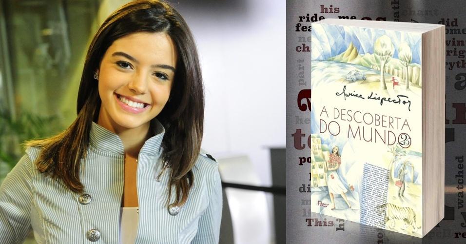 """Cecília, a personagem de Giovanna Lancellotti em """"Insensato Coração"""", ganhou do namorado um livro: """"A Descoberta do Mundo"""", de Clarice Lispector"""