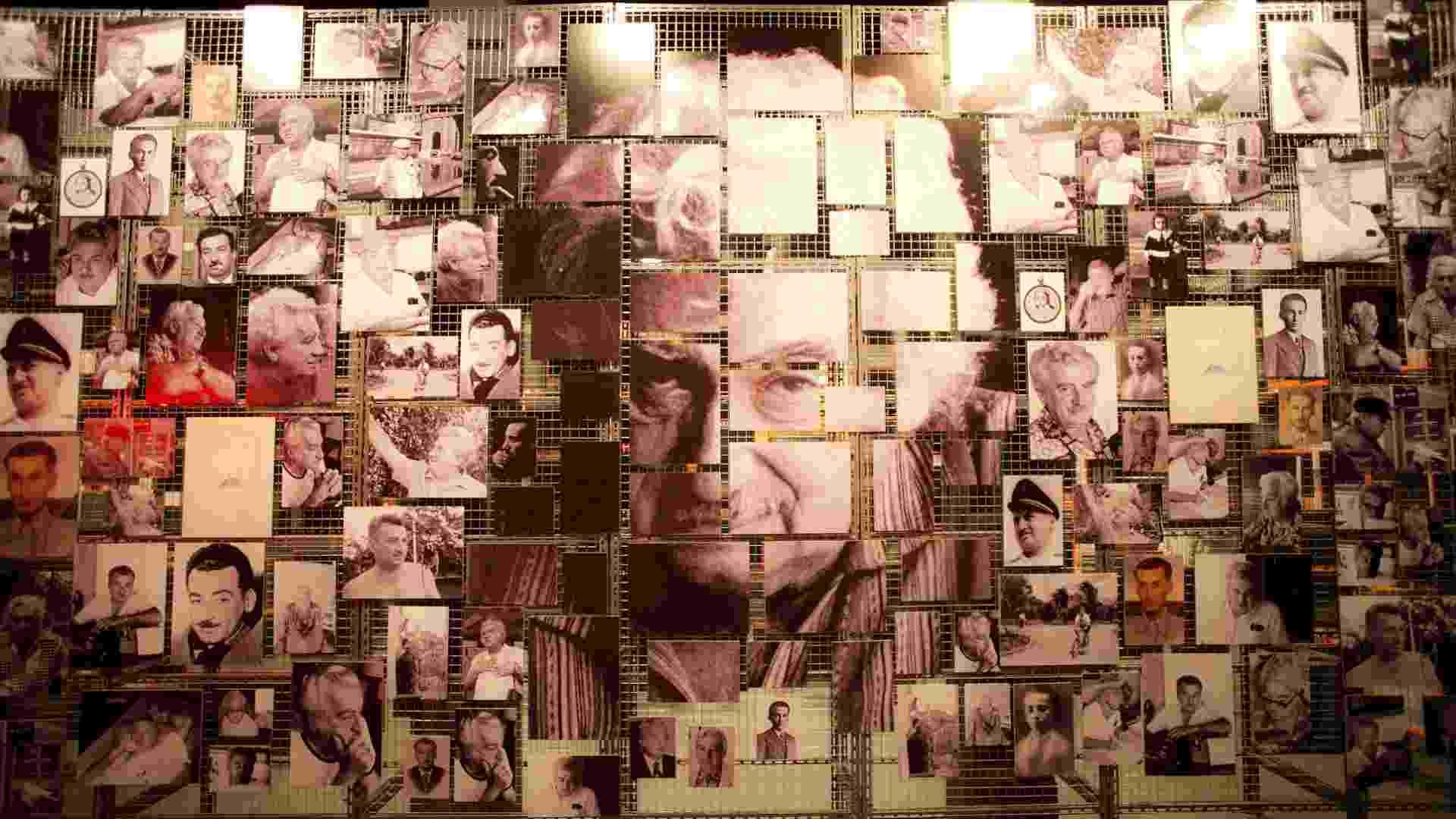 """Mosaico com fotos da carreira do escritor brasileiro Jorge Amado são parte da exposição """"Jorge Amado e Universal"""", que fica em cartaz em São Paulo até 22 de julho - Lucas Lima/UOL"""