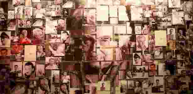 """Mosaico com fotos da carreira do escritor brasileiro Jorge Amado são parte da exposição """"Jorge Amado e Universal"""", que fica em cartaz em São Paulo até 22 de julho e faz parte do centenário - Lucas Lima/UOL"""