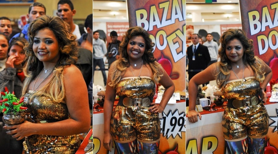 Gaby Amarantos prestiga evento realizado no Mais Shopping, no bairro de Santo Amaro, São Paulo (15/5/12)