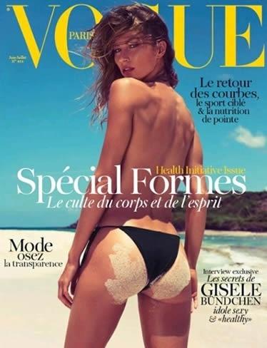 """Gisele Bündchen na capa da """"Vogue"""" francesa (15/5/12)"""
