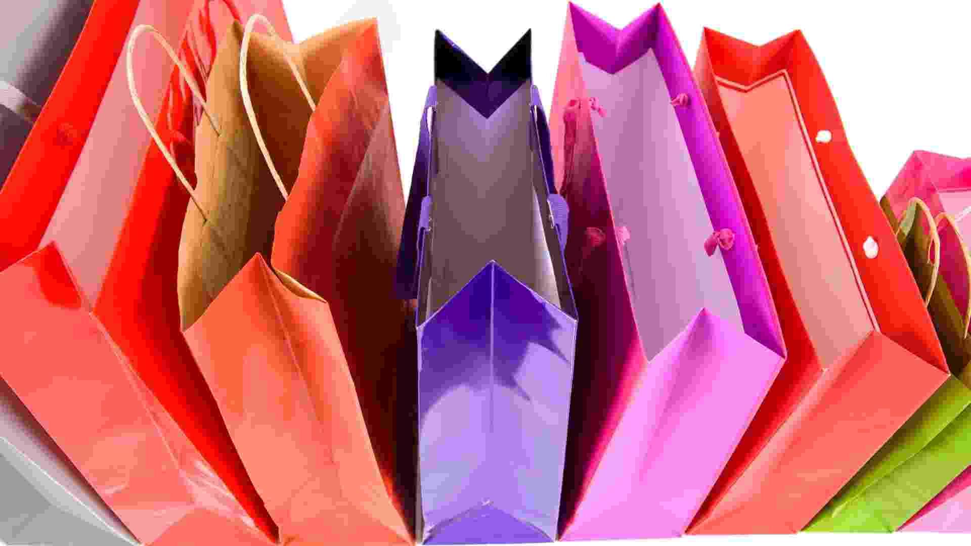sacolas, compras, cores, colorido, sacos - Thinkstock
