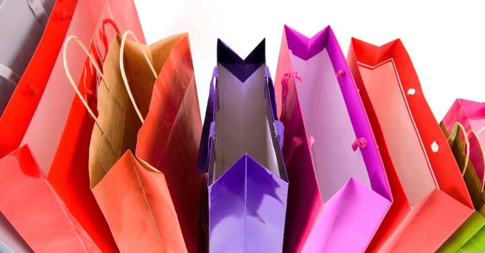 sacolas, compras, cores, colorido, sacos