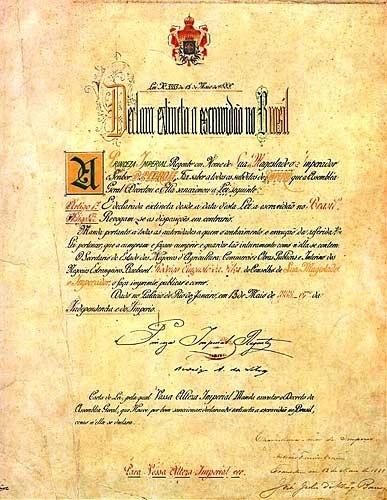 A Lei Áurea, foi o resultado de uma batalha legislativa iniciada na década de 1870. Abolição da escravatura