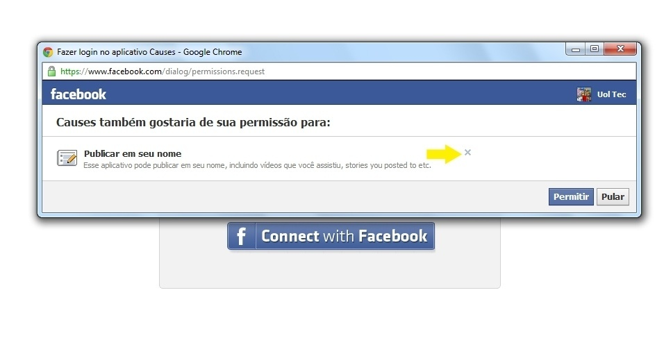 Causes no Facebook