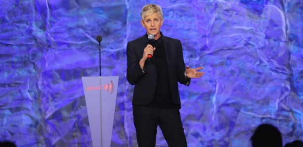 Ellen DeGeneres no GLAAD Media Awards, em Los Angeles (21/4/12)