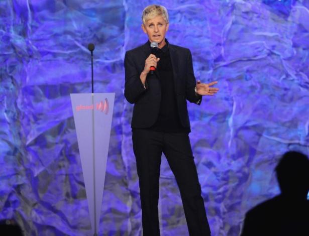 Ellen DeGeneres no GLAAD Media Awards, em Los Angeles (21/4/12) - Reuters