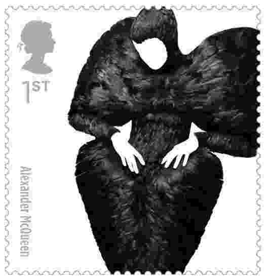 Selo da Alexander McQueen para o serviço de correio da Inglaterra - Divulgação