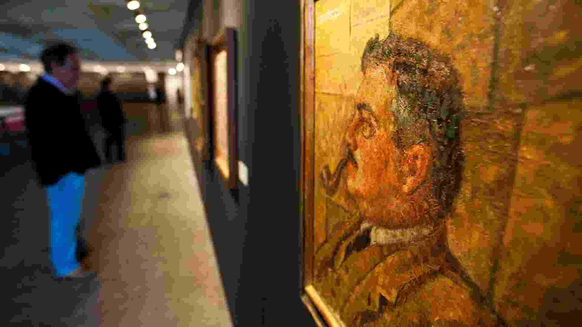 A partir desta quinta-feira (17), o Museu de Arte de São Paulo exibe uma coleção de quadros do escultor e artista plástico italiano Amedeo Clemente Modigliani. O pintor morreu aos 35 anos, vítima de uma meningite em janeiro de 1920  - Danilo Verpa/Folhapress