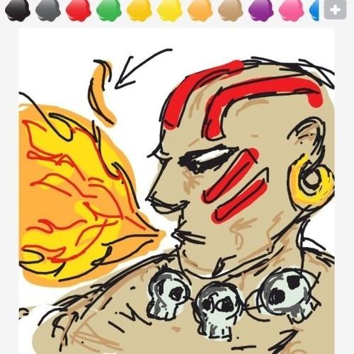 """Apesar de estar apontando para o fogo, o intuito era transmitir a palavra """"yoga"""". O personagem Dhalsim, de """"Street Fighter II"""", tem o nome de seus golpes precedidos do termo """"yoga"""""""