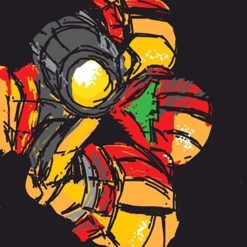 """Aproveitando o espaço, o usuário desenhou Samus Aran, da série """"Metroid"""", em sua armadura clássica"""