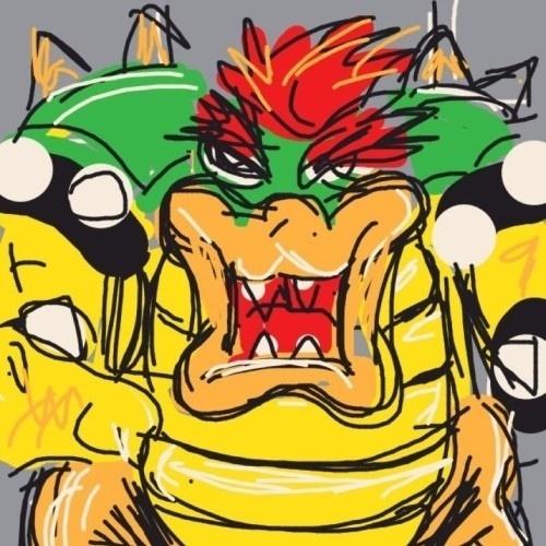 """Bowser, vilão da série """"Super Mario Bros."""", quase não coube na tela de tão espaçoso"""