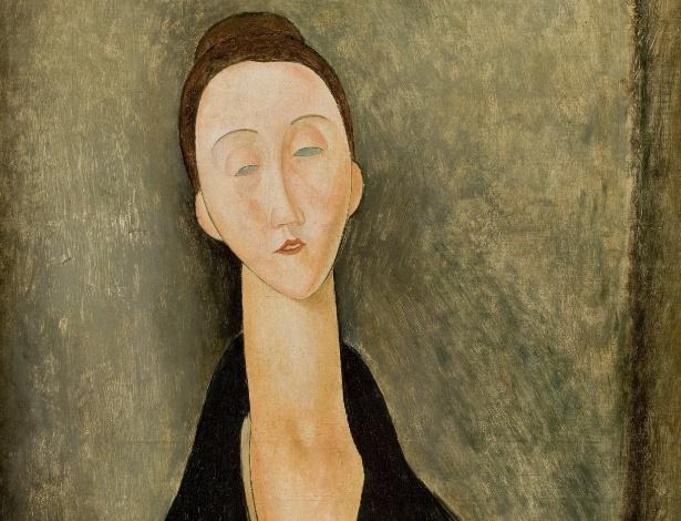 """Contemporâneo de Pablo Picasso, André Derain e Max Jacob, Modigliani é reconhecido por seus retratos femininos com pescoços alongados, como o quadro """"Lunia Czechowska"""" (foto) - Creative Commons"""