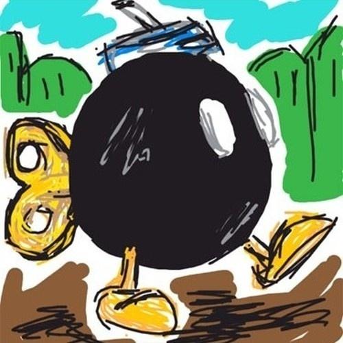"""Esse usuário não se conteve em fazer uma bomba normal, mas desenhar aquele mais fofo de """"Super Mario Bros."""""""