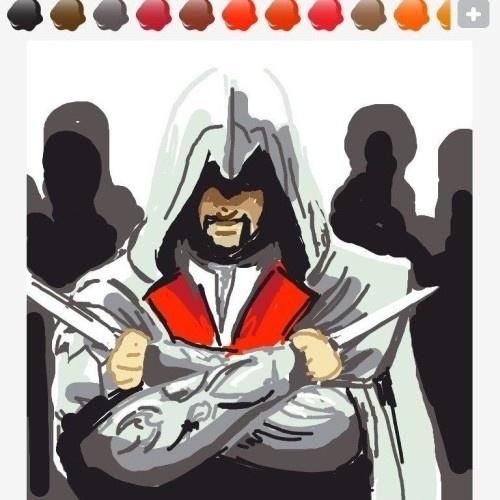 """Falar de assassino? Nada melhor que desenhar Ezio Auditore de Firenze - se tiver talento -, de """"Assassin's Creed II"""""""